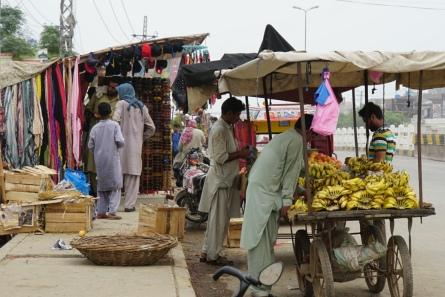 Straatverkopers - Lahore.