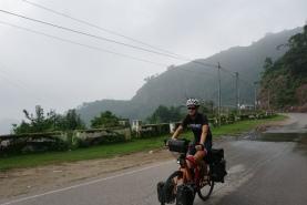 Nacho on a bike.
