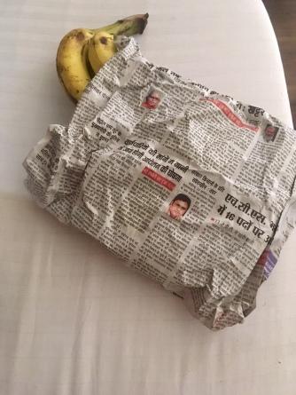 Bananen verpakt in papier!