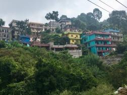 Kleurrijke huizen in India.