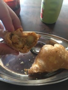 Laatste Indische samosa's voor even.