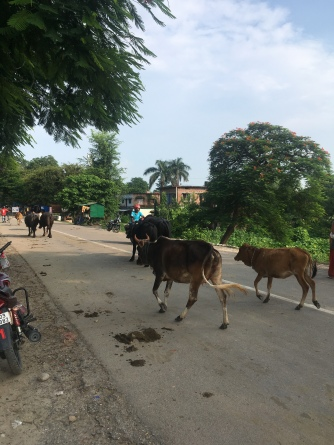 Grensovergang India-Nepal.