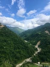 Richting Pokhara (midden Nepal).