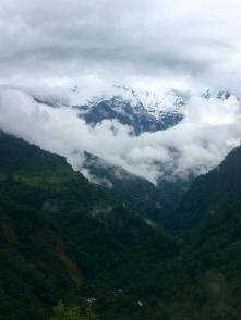 De bergen tonen zich een beetje