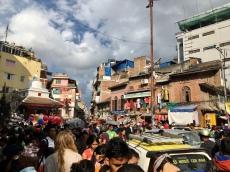 Een beetje volk in Kathmandu.