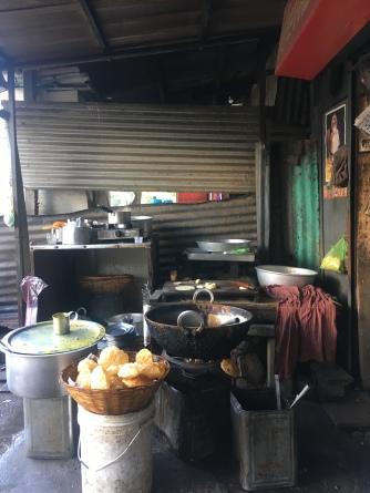 Ontbijt plaats in Siliguri.