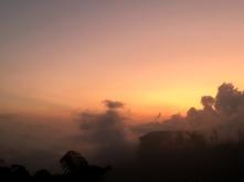 Zonsondergang in Meghalaya.