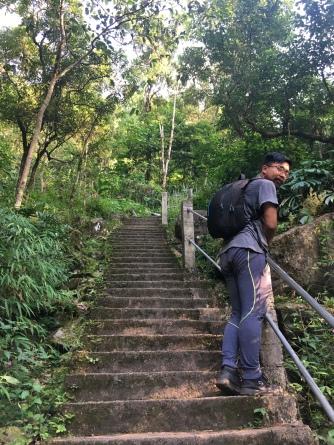 Veel trappen in deze wandeling.