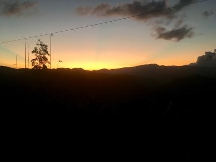 Opnieuw een schitterende zonsondergang.