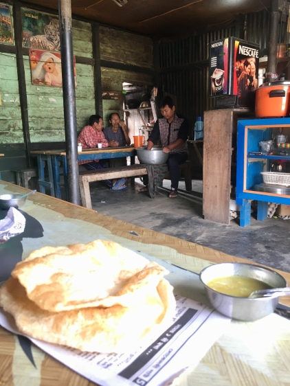 Puri & curry.