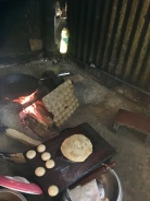 The making of Poori (Puri).