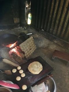 The making of Poori (Puri).