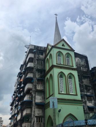 Kerk in Yangon.