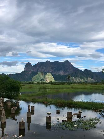 Landschap rondom Hpa-An.