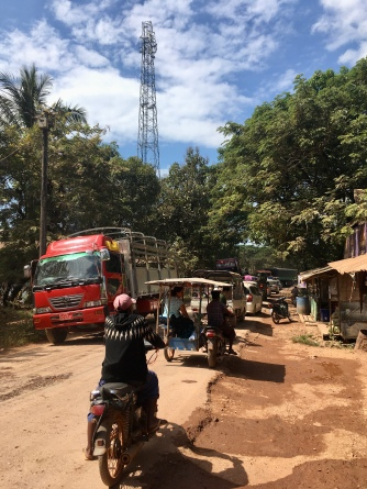 De slechtste weg van Myanmar was de laatste richting de grens.