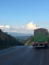 Top van de laatste heuvel richting Thailand.