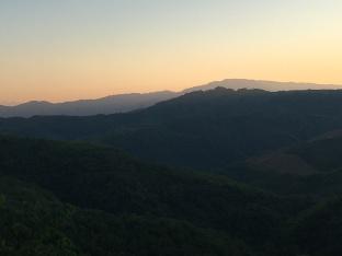 Zonsondergang in Laos.