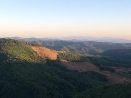 Heuvels in Laos.
