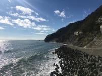 Fietsen langs de kust.