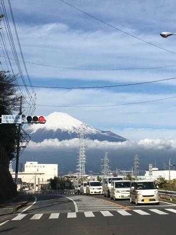 Mount Fuji is overal in de buurt van Tokio.
