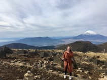 Trullie aan Mt. Fuji.