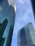 Mooie moderne wolkenkrabbers in Tokio.