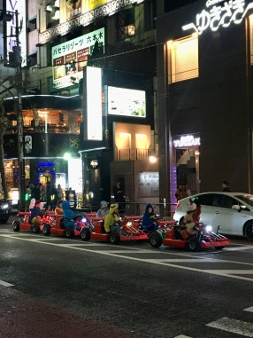 Real life Mario Kart in Tokio.